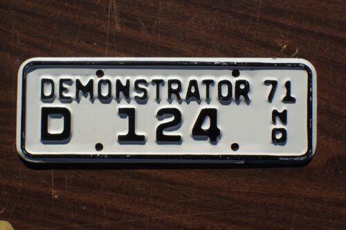 1971 North Dakota MOTORCYCLE DEALER License Plate