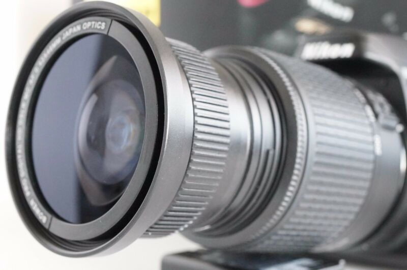 Wide Angle Macro Closeup Fisheye lens for Nikon d5300  d5200 as 50/35mm 52MM VR