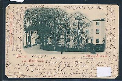 08134) AK Schleswig > Gruss aus Apenrade Schloss Brunlund, o 1898