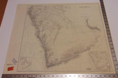 Arabia Landforms Map, Erwin Raisz, Geographical Exploration, Library Congress