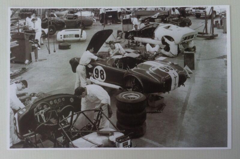 """1965 Shelby Cobra Assembly Line 11x17"""" Reprint Garage Decor"""