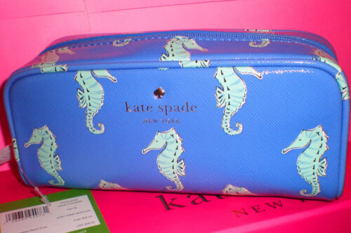 MARKDOWN 50% OFF~KATE SPADE NEW YORK CEDAR ST SEAHORSE BERRIE COSMETIC CASE~$68