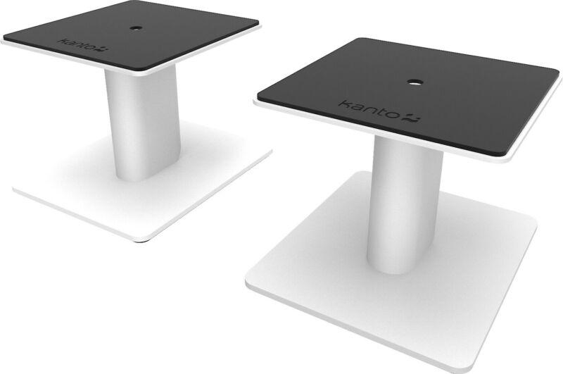 "Kanto SP6HD 6"" desktop speaker stands (white)"