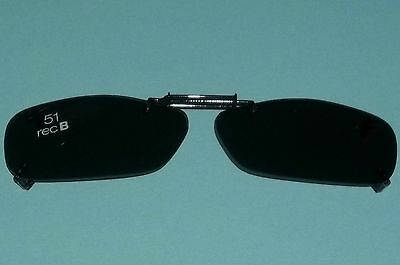 Foster Grant Black Frameless Clip on Clip-on Sunglasses Smoke Lens 51 Rec B (Frameless Shades)