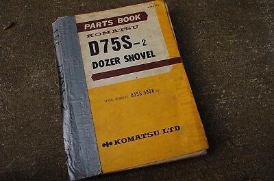Komatsu D75s-2 Tractor Dozer Crawler Parts Manual Book Catalog Index List 1981