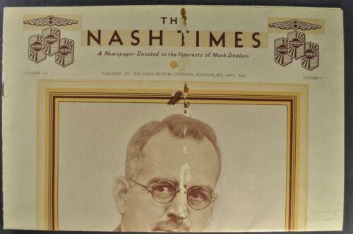 1930 Nash Times Dealer Newsletter 400 Twin Ignition 8 Original 30