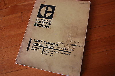 Caterpillar 750s Forklift Parts Manual Book Catalog Spare Towmotor Lift Truck