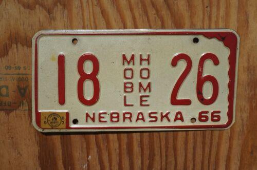 1967 Nebraska License Plate # 18 - 26