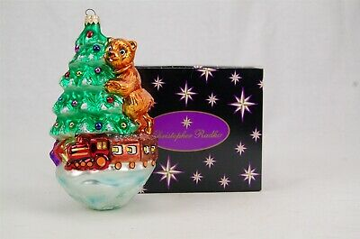 Christopher Radko Right on Track Christmas Tree, Bear, Train Ornament ()