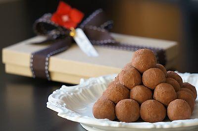 Super Dark Chocolate Truffle w/Free Custom Card & Gift Box & Accessory~ Handmade (Customized Chocolate)