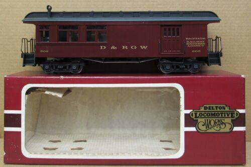 Delton Locomotive Works D&RG Combine Passenger Car w/Lights/Interior G-Gauge