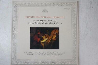 Bach Kantaten BWV106 Hertha Töpper Haeflinger Adam Karl Richter Archiv 198402LP5