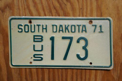 1971 South Dakota BUS License Plate # 173