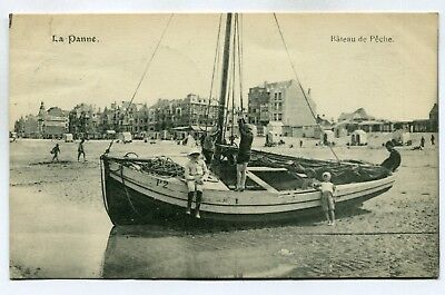 CPA - Carte Postale - Belgique - La Panne - Bateau de Pêche (SV6444)
