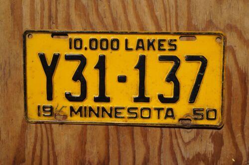 1950 Minnesota Truck License Plate