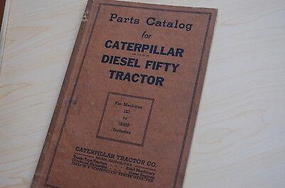 Caterpillar Fifty Tractor Crawler Dozer Parts Manual Book Catalog Vintage 50 1e