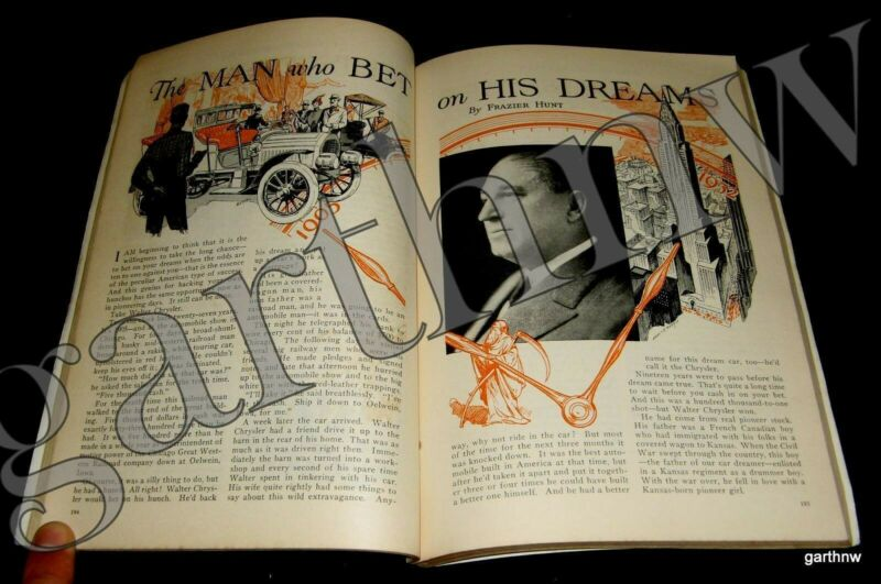 WALTER CHRYSLER 1932 LIFE STORY PICTORIAL THE CAR MAN WHO BET ON HIS DREAMS