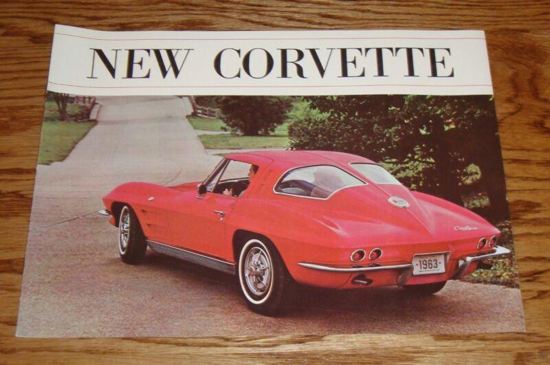 Original 1963 Chevrolet Corvette Red Sales Brochure 63 Chevy