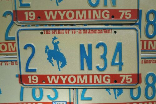 One or More 1975 1976 WYOMING State BICENTENNIAL License Plate Tags