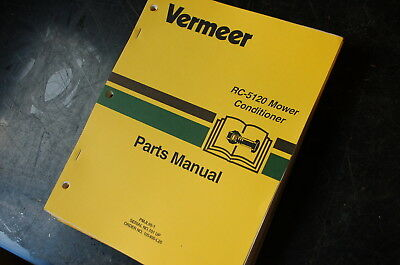 Vermeer Rc-5120 Disc Mower Conditioner Parts Manual Book Catalog List Spare Hay