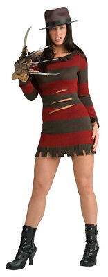 Elm Street Miss Freddy Krueger Damen Kostüm (Miss Krüger Kostüme)