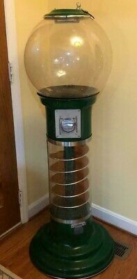 Rare Dark Green Beaver 56 Large Spiral .25 Cent Bulk Gumball Vending Machine