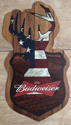 Budweiser Deer Hunting Beer Sign