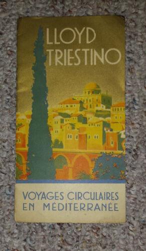 Vintage Cruise Ship Brochure LLOYD TRIESTINO LIne Voyages Mediterranean 1931