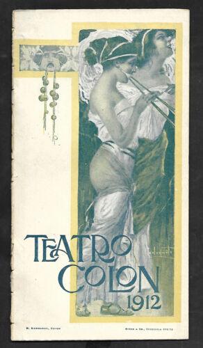 "ARTURO TOSCANINI OPERA ""FALSTAFF"" - TEATRO COLON ARGENTINA PROGRAM 1912"
