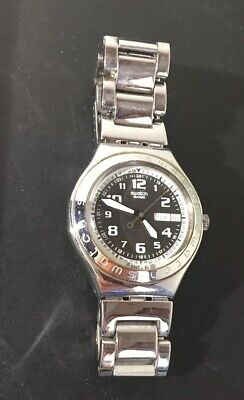 Swatch Irony Men's Water-Resistant Stainless Steel Watch Awesome Large Glow