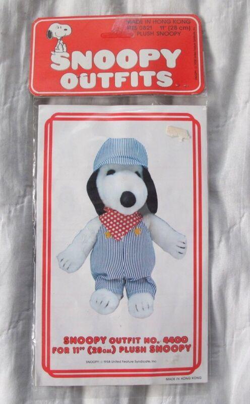 "1958 11"" Snoopy outfit Train Conductor/Engineer #4400 vintage in package NIP"