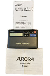 Vintage Aurora Data Bank TM200 Telephone E-Mail Organizer, Calculator & Clock
