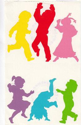 Vintage Mrs Grossman Playful Dancing Rainbow Children Sticker Sheet
