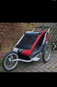 Chariot Red Double Stroller