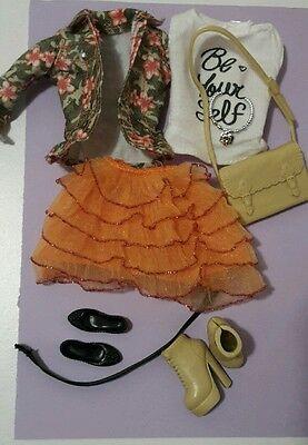 Barbie curvy fashion set, clothes and accessories bundle,