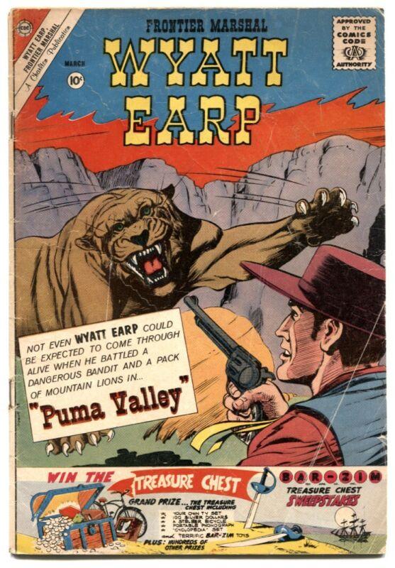 Wyatt Earp Frontier Marshall #35 1961- Charlton western comic VG