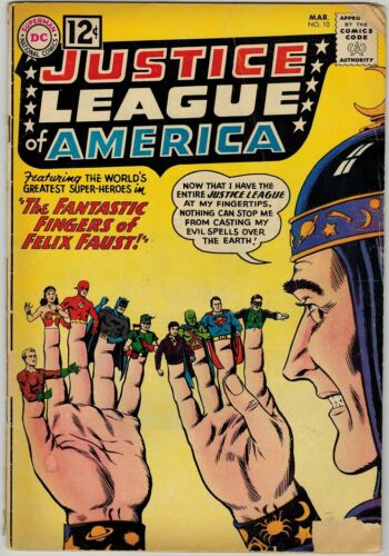 Justice League of America 10 (1962) G/VG First Appearance Felix Faust!
