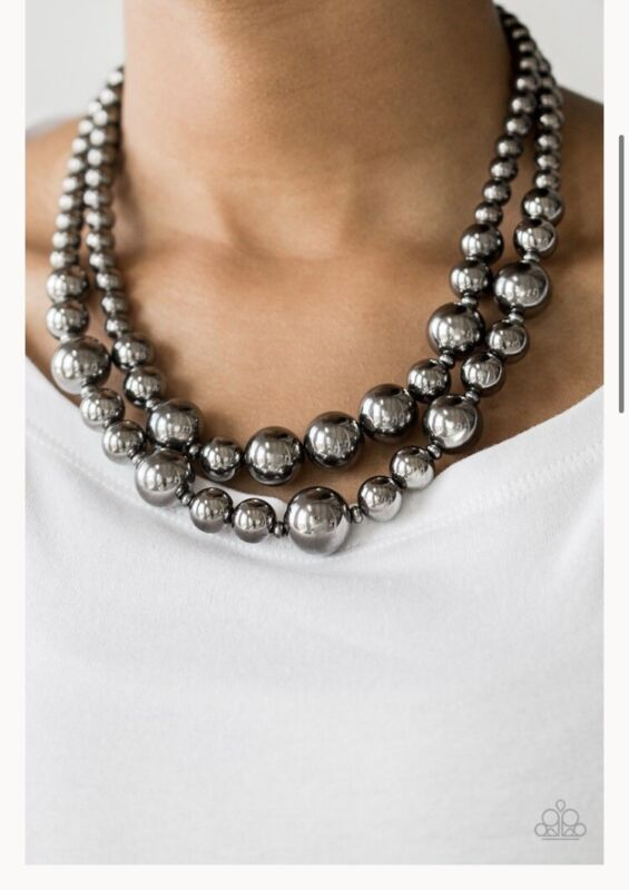 Paparazzi I Double Dare You - Black Necklace & Earrings