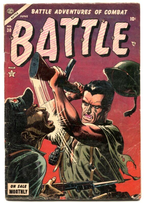 Battle #30 - 1954 - Atlas - VG- - comic book