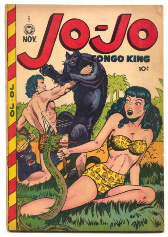 Jo-Jo Comics #21 1948- spicy snake cover glued VG-