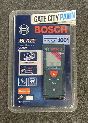 New Bosch Professional Glm-30 Distance Area And Volume Laserir Tape Measure