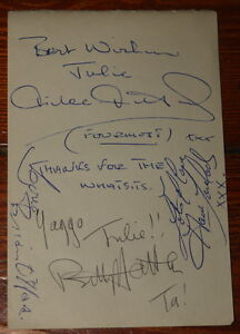 THE-FOURMOST-VERY-RARE-HAND-SIGNED-AUTOGRAPH-BOOK-PAGE-1964-NICE-EXAMPLE