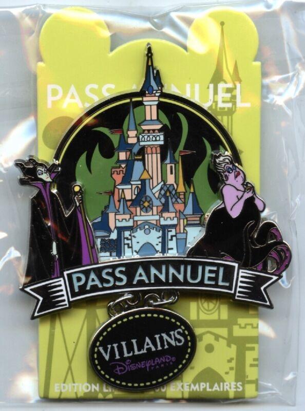 Disneyland Paris - Annual Passholder Pin - Villains - Maleficent & Ursula
