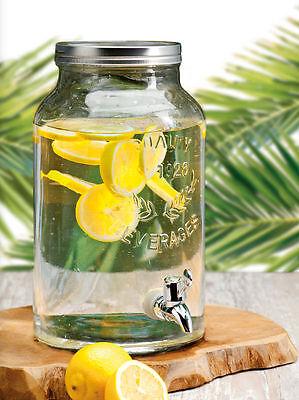 Glas Getränke Spender mit Zapfhahn 5,5l - Wasserspender Saftspender Dispenser
