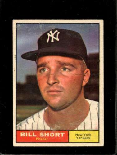 1961 TOPPS 252 BILL SHORT VG YANKEES X01115 - $2.00