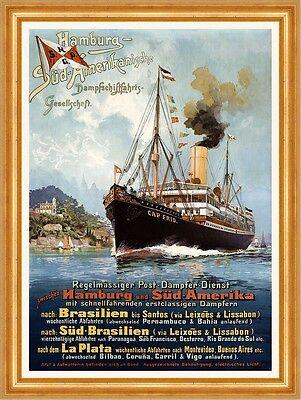 *Schnäppchen 106* Hamburg Südamerikanische Dampfschifffahrt Plakate A3 287