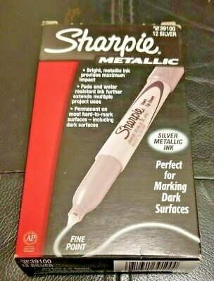Sharpie Marker Lot - Metallic Silver - Lot Of 24