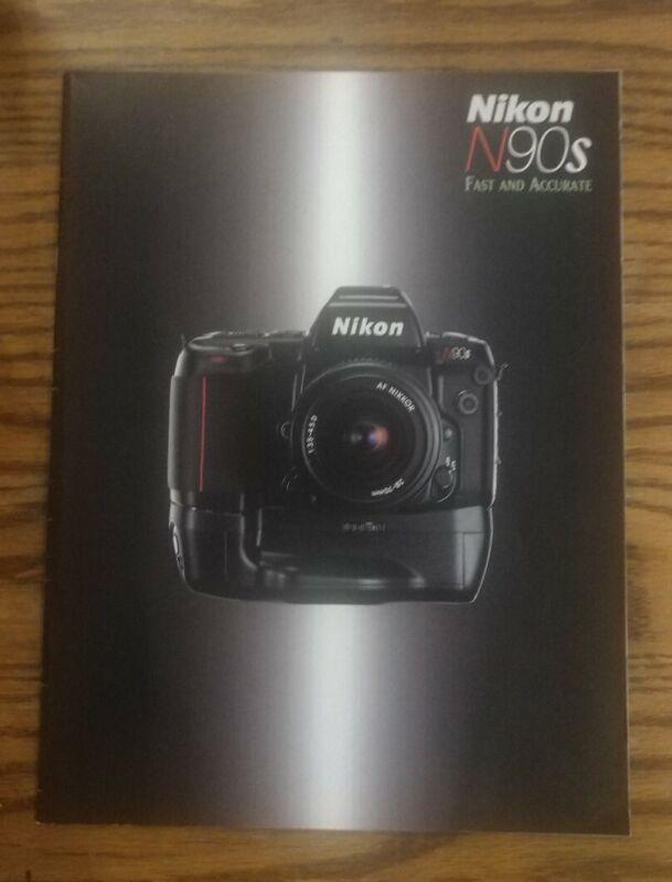 1995 Nikon N90s 35mm SLR Camera Brochure