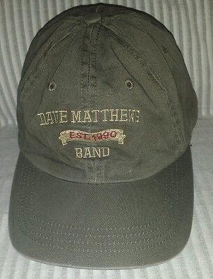 Dave Matthews Band DMB Olive Army Green Hat Established 1990 - Adjustable