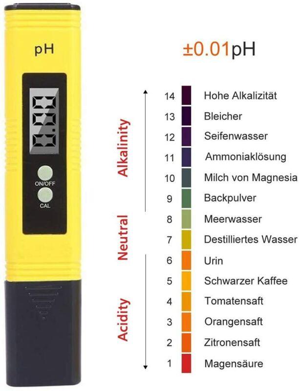 Digital Electric PH Meter LCD Tester Hydroponics Aquarium Water Pocket Test Pen